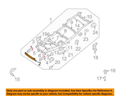 NISSAN OEM 05-07 Xterra Frame Crossmember-Front 51010EA030 | eBay