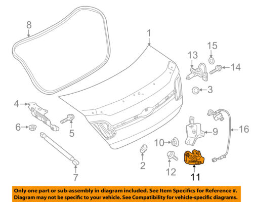 FORD OEM 13-16 Fusion Trunk Lid-Lock Striker DS7Z54404A42A