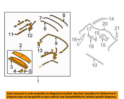 FORD OEM 06-14 Mustang CONVERTIBLE TOP-Frame Assembly DR3Z7653000AA