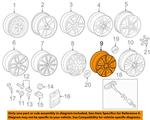 AUDI OEM 09-13 A3-Wheel-Alloy Aluminum 8P0601025BK