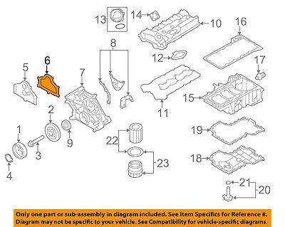 BMW OEM 13-15 750Li xDrive Engine-Upper Timing Cover Gasket Right 11127605211