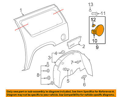 GM OEM Fuel Door-Gas Cap Hatch 15940677