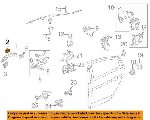 NEW GENUINE 04-08 Acura HONDA OEM TL PASSENGER RIGHT REAR Door Lock Cable