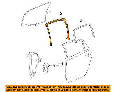 Chevrolet GM OEM 09-13 Impala Window Glass-Rear Door-Run Channel Left 22971756