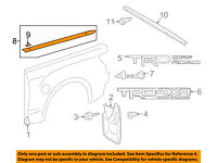 TOYOTA OEM 05-15 Tacoma Pick Up Box Bed-Mud Flap Splash Guard Right 7662504151