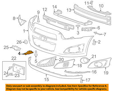 Chevrolet GM OEM Sonic Front Bumper Grille Grill-Lower Bracket Right 95019918