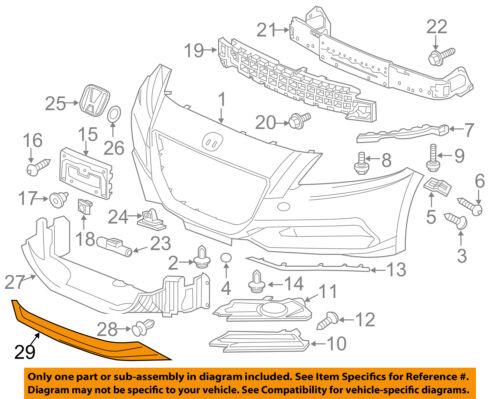 Honda Genuine 08F01-SZT-1T0 Spoiler