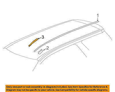 GM OEM-Roof Molding Trim Right 20915836