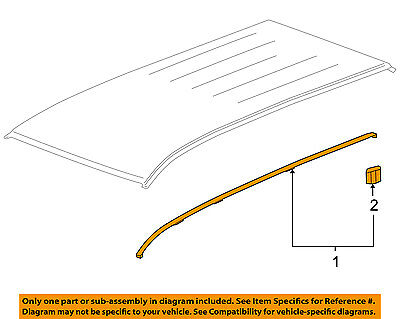 GM OEM-Roof Molding Trim Right 22864085
