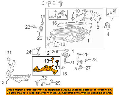 AUDI OEM 13-17 A5 Quattro Headlamp-Front Lamps-Bracket Right 8T0941454D