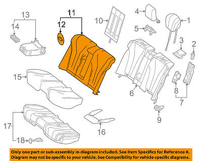 Mercedes MERCEDES-BENZ OEM S550 Rear Seat-Seat Cover-Top Back 22292084118R85