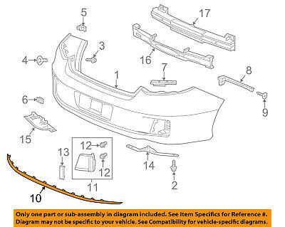 HONDA OEM 13-15 Accord Rear Bumper-Lower Molding Trim 71503T3LA01