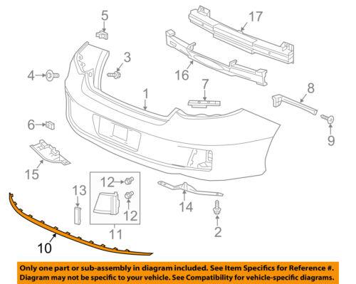 New Bumper Face Bar Trim Molding Step Pad Rear Coupe HO1144101 71503T3LA51