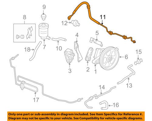Power Steering High Pressure Hose//Pressure Line Assembly for Honda Odyssey 05-07