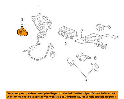 GM OEM Airbag Air Bag SRS-Side Impact Sensor 13578677