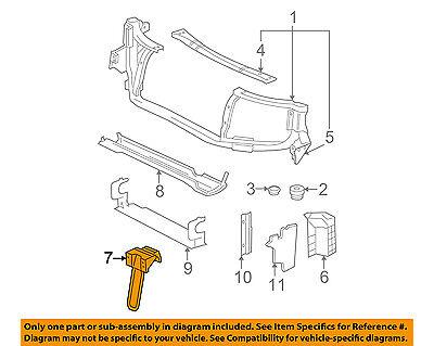 GM OEM Radiator Core Support-Center Hood Lock Latch Support 15203353