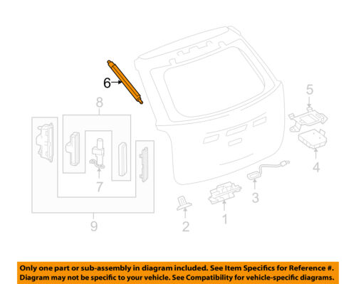 Chevrolet gm oem 10 14 equinox lift gate actuator 20927447 for Louisiana id template