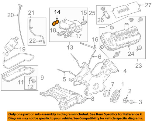 details about jaguar oem 04-09 xj8 4 2l-v8 engine-filter housing gasket  nce1842aa