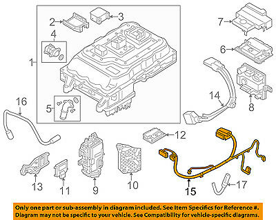 BMW OEM 14-17 i3 Electrical-Cable 12438609697