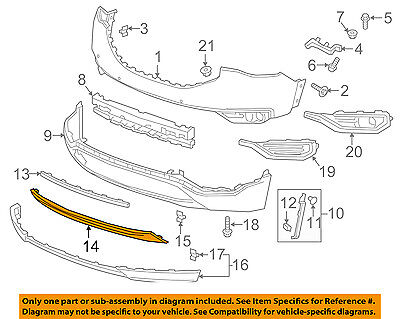 GMC GM OEM 17-18 Acadia Front Bumper Grille Grill-Upper Support 84122562