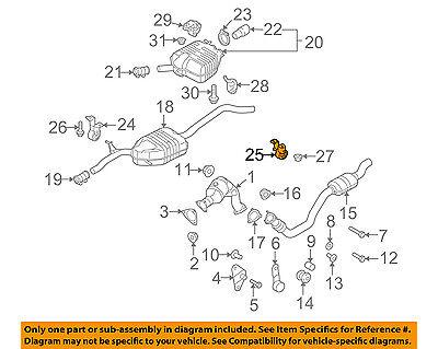 AUDI OEM 11-17 Q5 2.0L-L4-Exhaust Bracket Left 8K0253144F