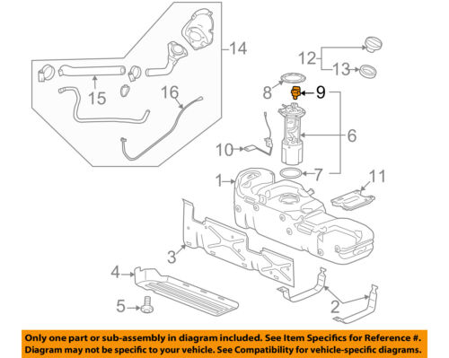 GM OEM Vapor CanisterFuel Tank Pressure Boost Sensor