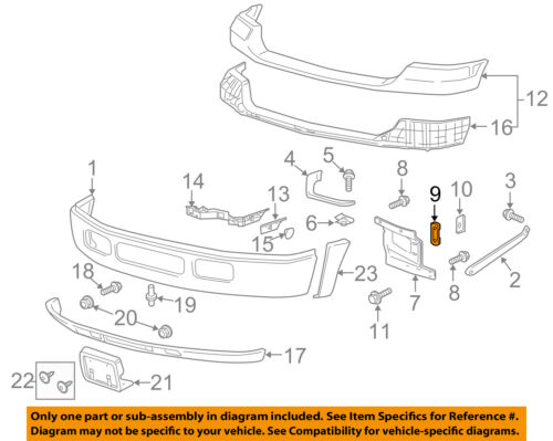 FORD OEM 05-16 F-250 Super Duty Front Bumper-Mount Plate Retainer W706755S440