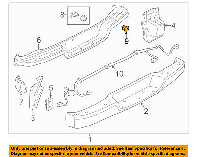 GM OEM Rear Bumper-Parking Aid Reverse Sensor Bracket 22801410