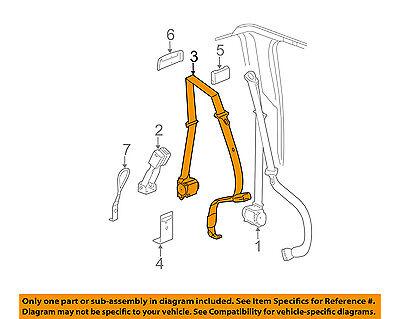 Rear Seat Belt - GM OEM Rear Seat Belt-Center Middle 19151328