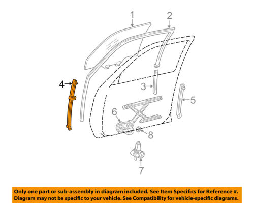 Toyota 67401-AA020 Front Door Frame Sub Assembly