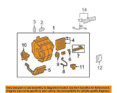TOYOTA OEM 06-07 Highlander 3.3L-V6-A/C AC Evaporator Core 8705048170