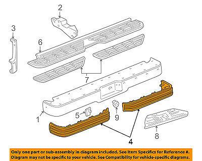 Bumper Impact Strip - GM OEM-Bumper Trim-Impact Strip Left 15574115