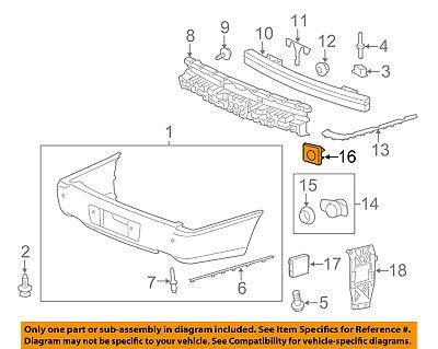 Cadillac GM OEM 06-11 DTS Rear Bumper-Park Sensor Housing 25767185