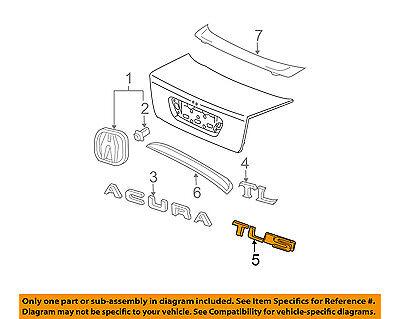 Acura HONDA OEM 07-08 TL Trunk Lid-Emblem Badge Nameplate 75722SEPA62