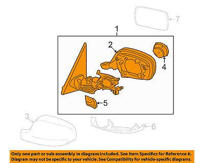 BMW OEM 11-14 X3 Door Side Rear View-Mirror Assy Left 51167264113