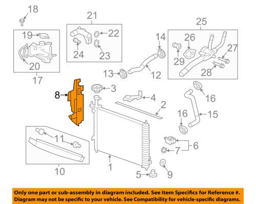 Details about GMC GM OEM 13-16 Acadia 3.6L-V6 Radiator-Side Baffle on