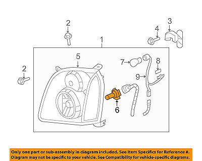GM OEM-Headlight Headlamp Bulb 13503418