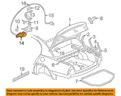 Buick GM OEM 97-05 Park Avenue Trunk-Lock Actuator Motor - Buick Park Avenue Trunk