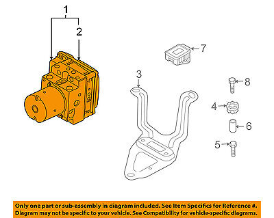 BMW OEM 07-09 X5 ABS Anti-Lock Brake System-Control Module 34516785269