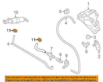AUDI OEM A4 Quattro Washer-Headlight Head Light-Washer Hose Clamp N10098001