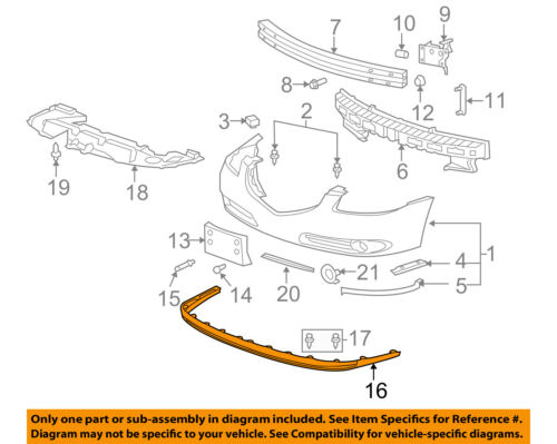 Buick GM OEM 06-09 Lucerne Front Bumper-Front Deflector 25761497