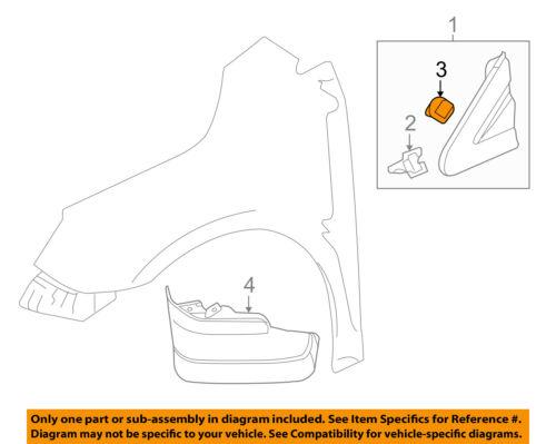 Buick GM OEM 10-16 LaCrosse Fender-Upper Molding Trim Right 20833655