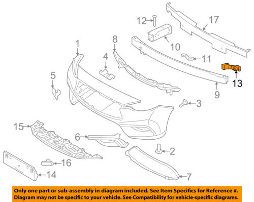 2013-2015 Nissan Altima Front Bumper Upper Support Retainer Bracket OEM