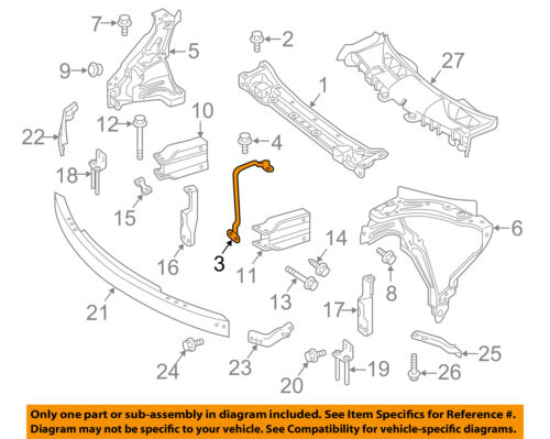 NEW For Mercedes Benz OEM GLK350 Radiator Support-Center Bracket 2048900032