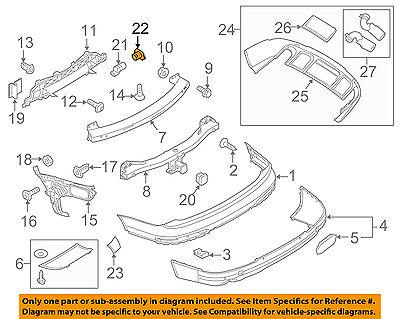 AUDI OEM 12-18 A6 Quattro Rear Bumper-Park Sensor Seal 1T0919133C9B9