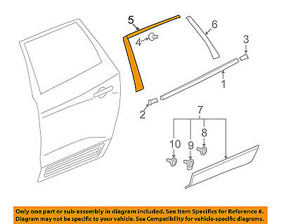 Buick GM OEM 08-17 Enclave Exterior-Rear-Black Out Tape Right 23366329