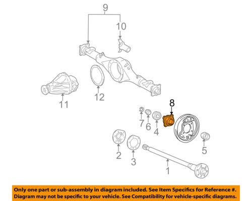 toyota oem 89-95 pickup rear suspension-axle shaft case ... subaru front axle diagram toyota axle diagram #14