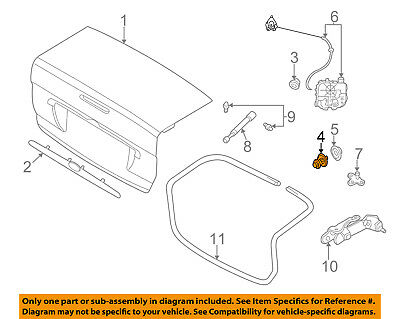FORD OEM 00-03 Focus Trunk Lid-Lock Cylinder YS4Z5443505BB