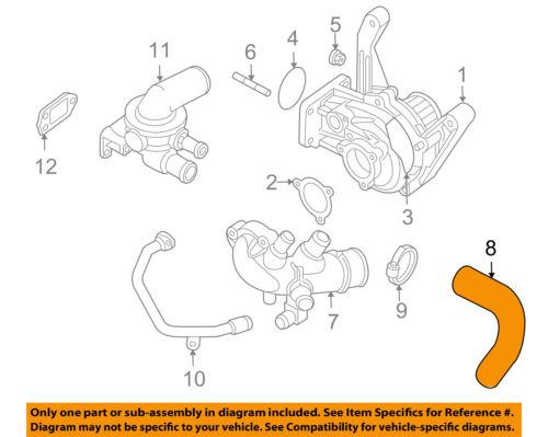 Cooling Hose For 98-05 Audi VW A6 Quattro A4 Passat 2.8L V6 DOHC ATQ RF74H5