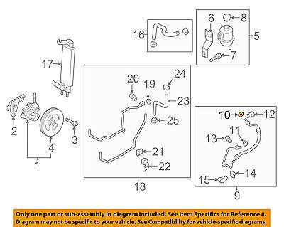 Sunsong 3602560 Power Steering Pressure Line Hose Assembly